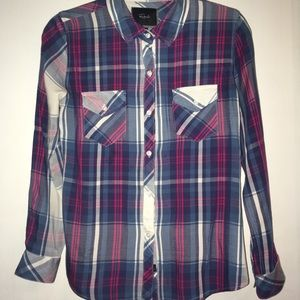 Rails, Carmen plaid button down, Size S